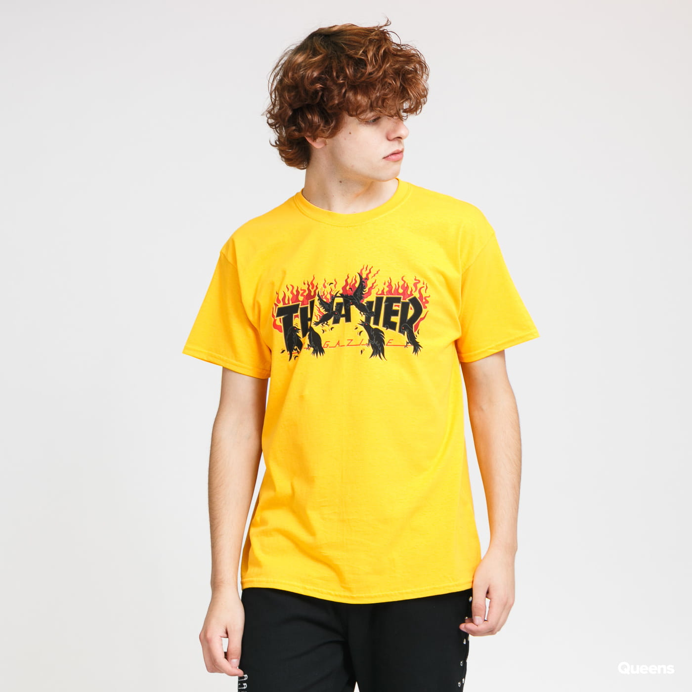 Thrasher Crows Tee yellow