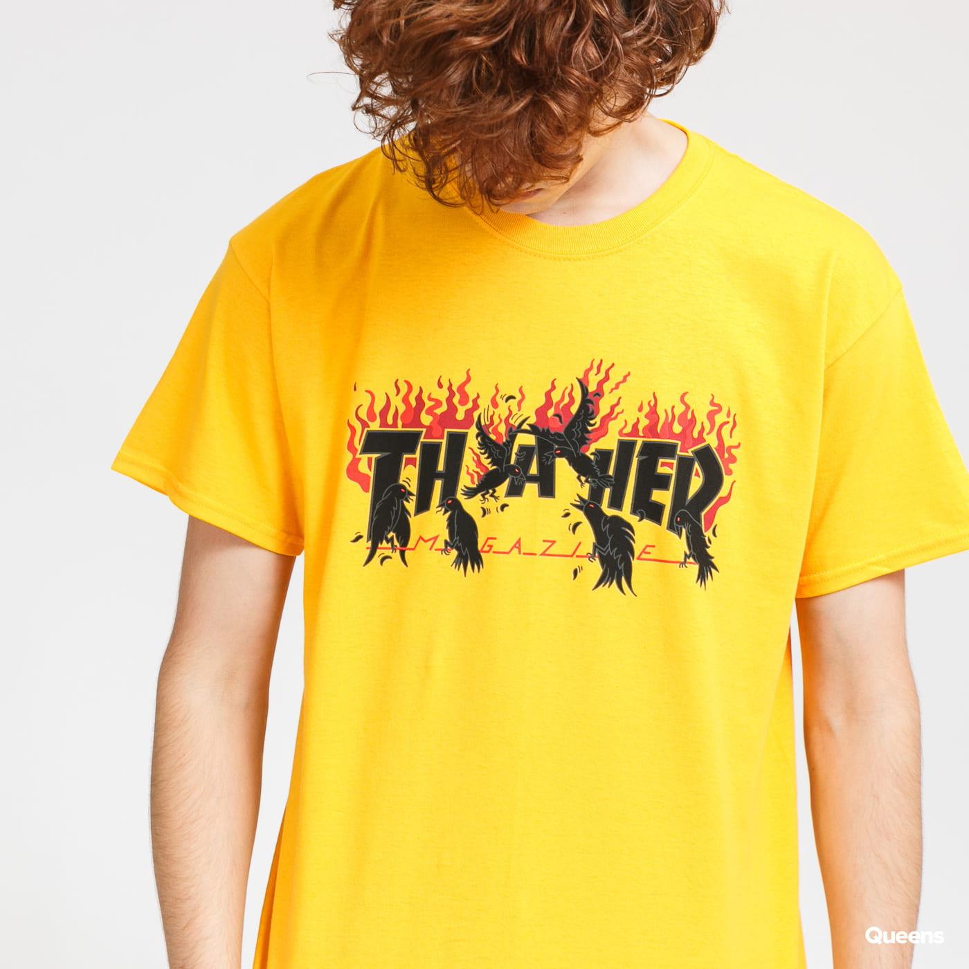 Thrasher Crows Tee žluté