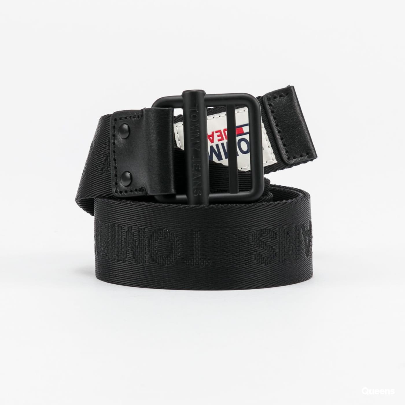 TOMMY JEANS Logo Webbing Belt černý