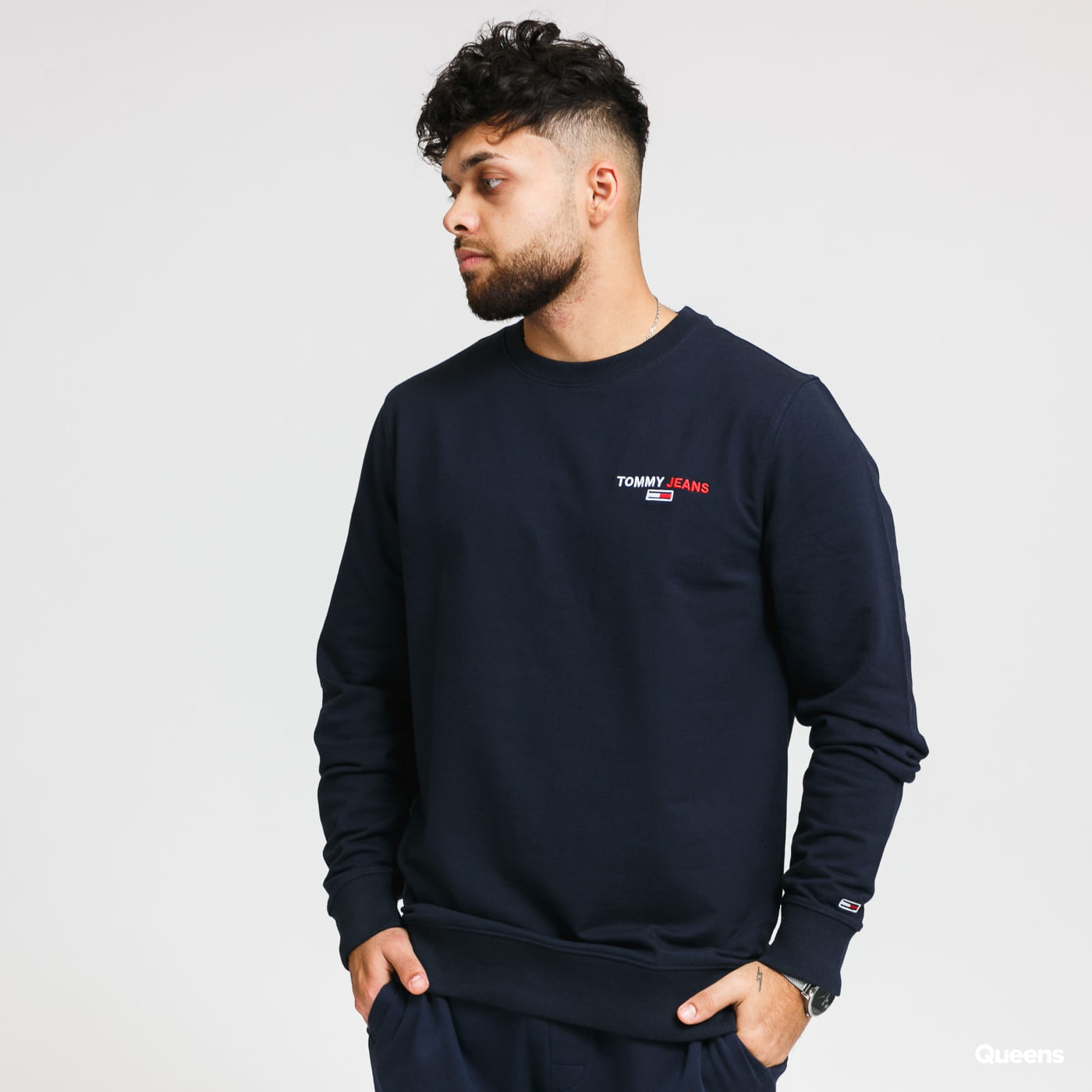 TOMMY JEANS M Chest Graphic Crew navy