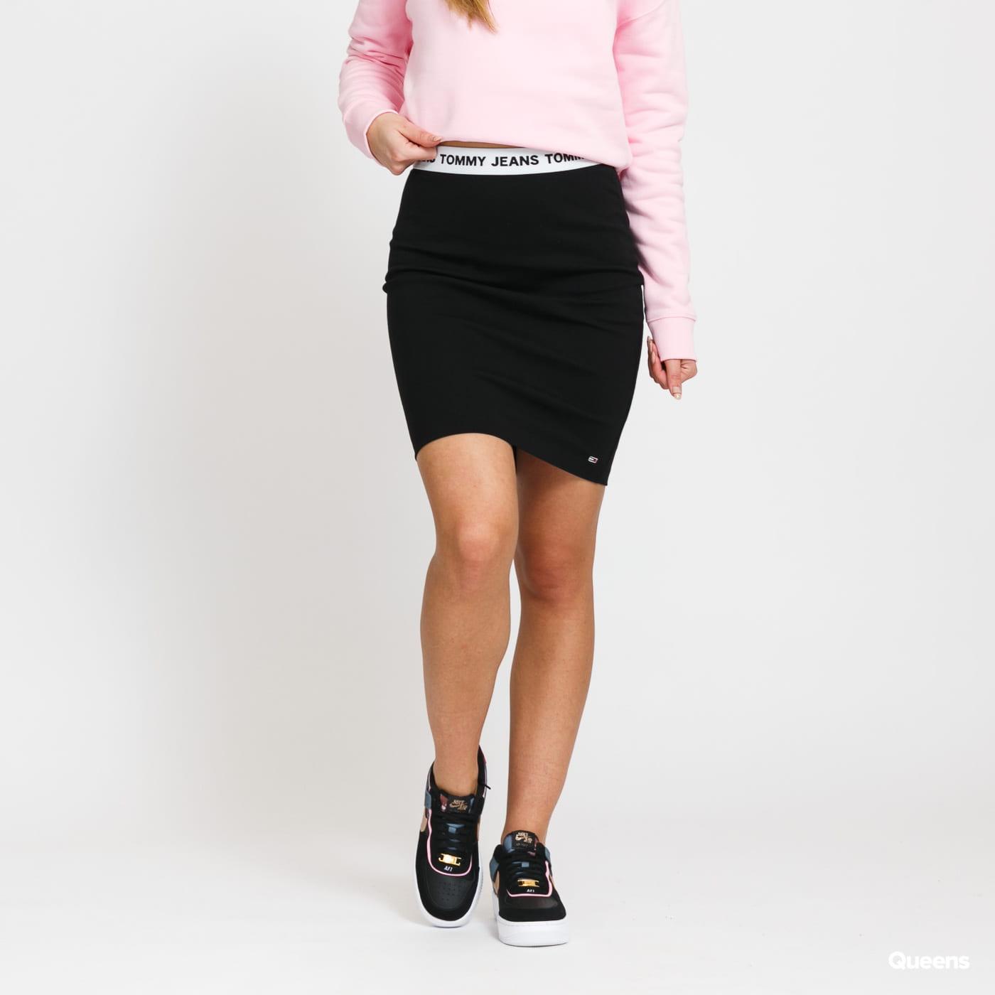 TOMMY JEANS W Bodycon Skirt černá