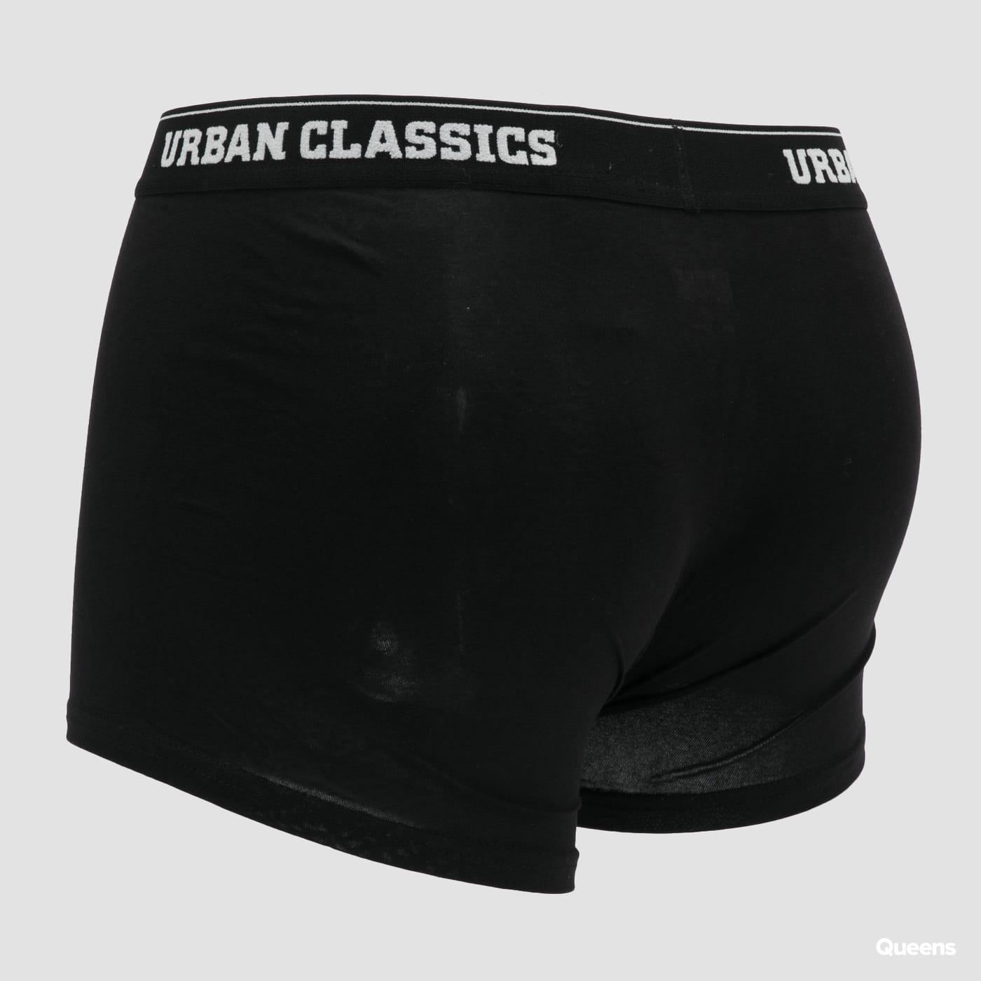 Urban Classics Boxer Shorts 5-Pack black / dark gray / navy