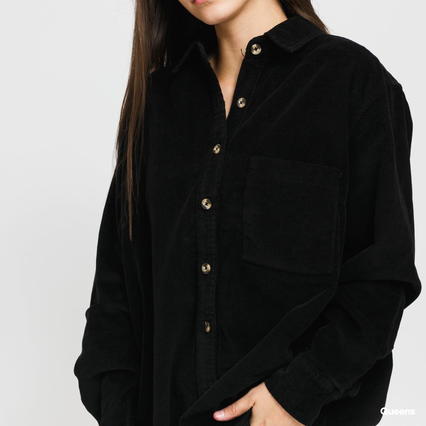 Urban Classics Ladies Corduroy Oversized Shirt černá