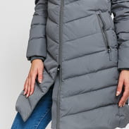 CALVIN KLEIN JEANS W Long Down Fitted Puffer Jacket šedá