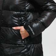 CALVIN KLEIN JEANS W Shiny Long Puffer Jacket černá