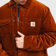 Carhartt WIP Corduroy Michigan Coat hnědá