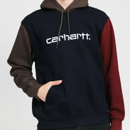 Carhartt WIP Hooded Tricol Sweat navy / olivová / vínová