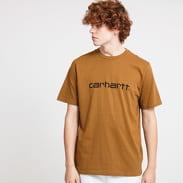 Carhartt WIP Script Tee hnědé
