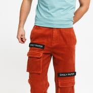 Daily Paper Corduroy Cargo Pants tmavě oranžové