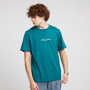 FRED PERRY Graphic Tee zelené