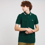 FRED PERRY Twin Tipped Fred Perry Shirt tmavě zelené
