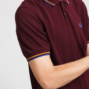 FRED PERRY Twin Tipped Fred Perry Shirt tmavě vínové