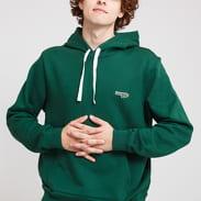 LACOSTE Men's Hooded Fleece Sweatshirt tmavě zelená