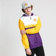 Mitchell & Ness Margin Of Victory Windbreaker LA Lakers fialová / žlutá / bílá