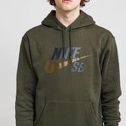Nike M NK SB Icon Hoodie PO Essential olivová