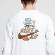 Nike M NK SB Tee LS Artist bílé