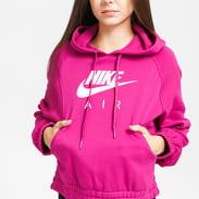 Nike W NSW Air Hoodie Fleece fialová