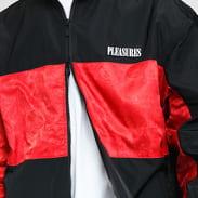 PLEASURES Blast Track Jacket černá / červená