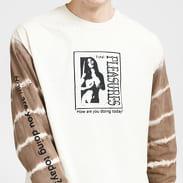 PLEASURES Cover Girl Long Sleeve Tee krémové / hnědé