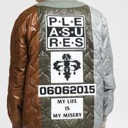 PLEASURES Misery Jacket olivová / hnědá