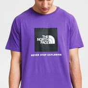 The North Face M Rag Red Box Tee fialové