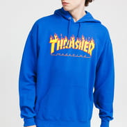 Thrasher Flame Logo Hoody modrá