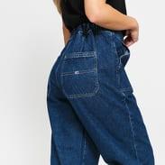 TOMMY JEANS W Elasticated Denim Pant plaid mix blue rigid