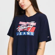 TOMMY JEANS W Signature Logo Tee navy