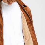 Urban Classics Boxy Corduroy Jacket hnědá