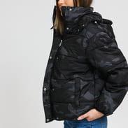 Urban Classics Ladies Boyfriend Camo Puffer Jacket camo černá