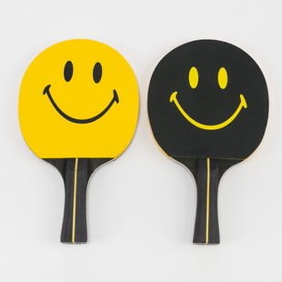 Chinatown Market Smiley Ping Pong Paddle Set