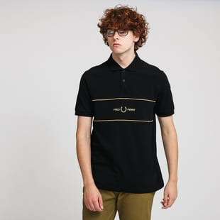 FRED PERRY Embroidered Panel Polo Tee