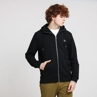 FRED PERRY Hooded Zip Trough Sweatshirt