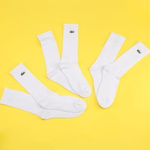LACOSTE 3Pack Crew Cut Socks