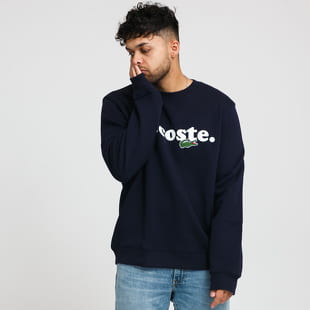 LACOSTE Men's Lacoste And Crocodile Branded Fleece Sweatshirt