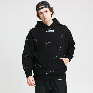 PLEASURES Safety Embroidered Hoodie