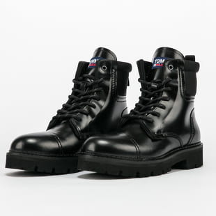 TOMMY JEANS Leather Fashion Pop Colour Boot