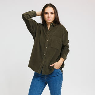 Urban Classics Ladies Corduroy Oversized Shirt