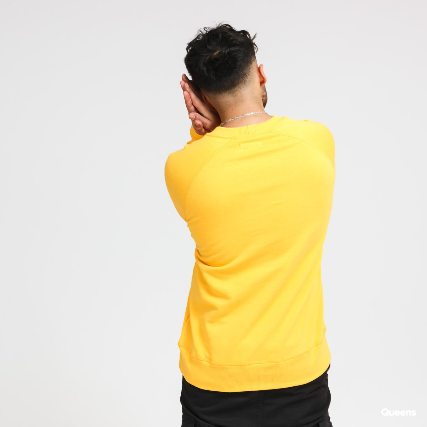 CATERPILLAR Basic Printed Logo Sweatshirt žlutá