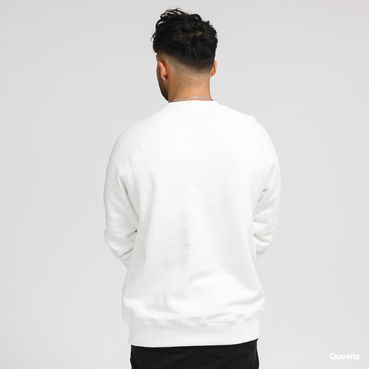 CATERPILLAR Basic Printed Logo Sweatshirt bílá