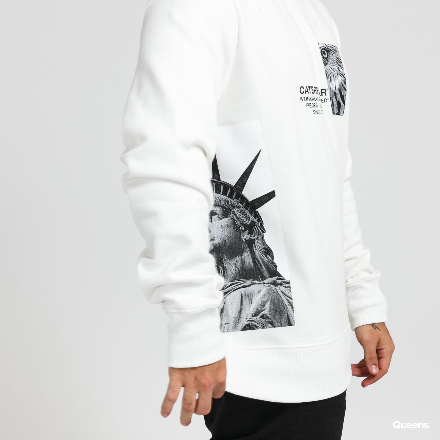CATERPILLAR Eagle Graphic Sweatshirt bílá