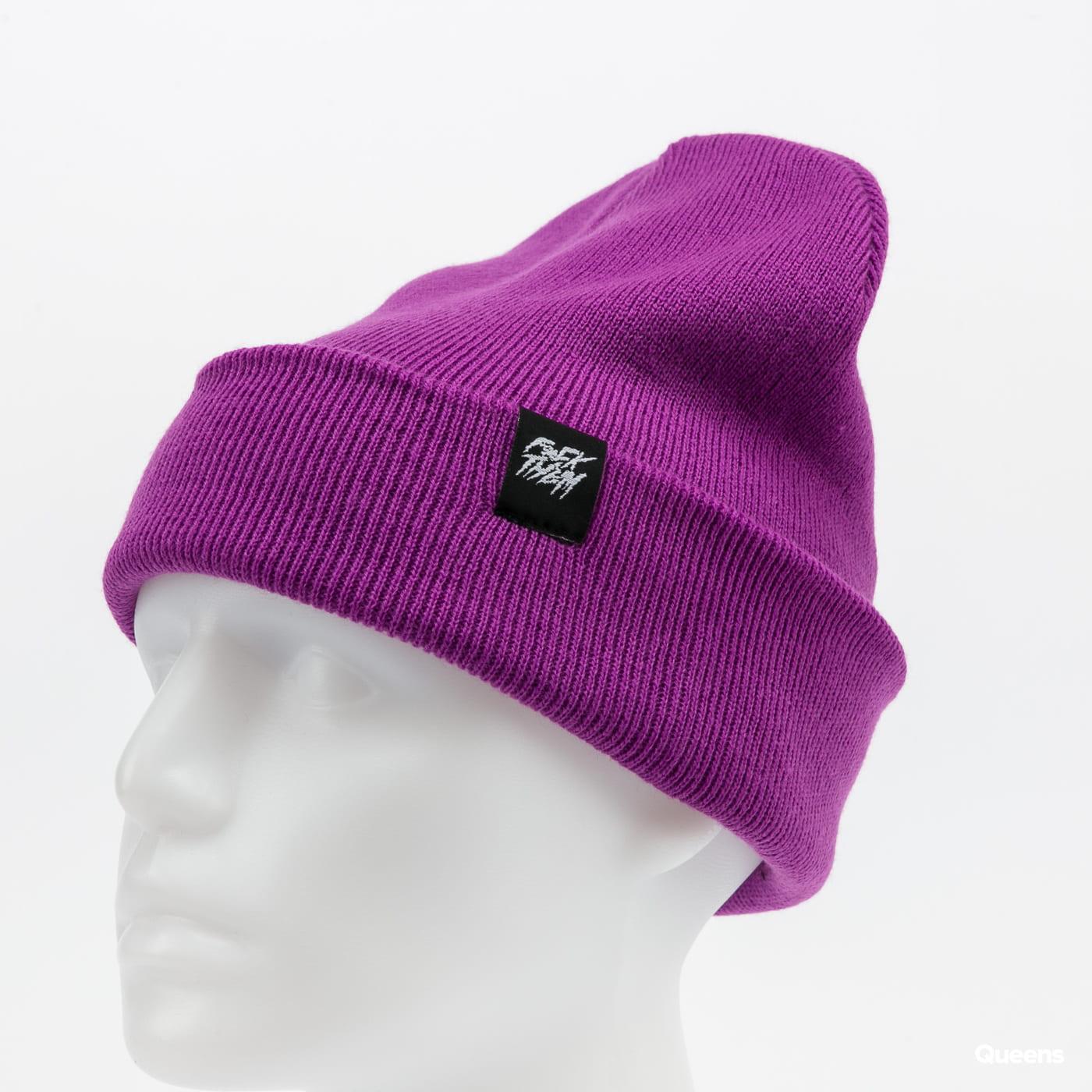 F*CK THEM 2-Style Beanie purple