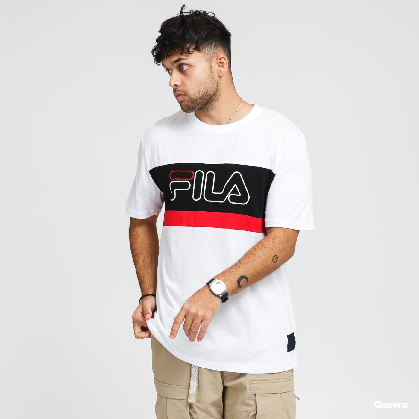 Fila Men Laurens Tee white / black / red