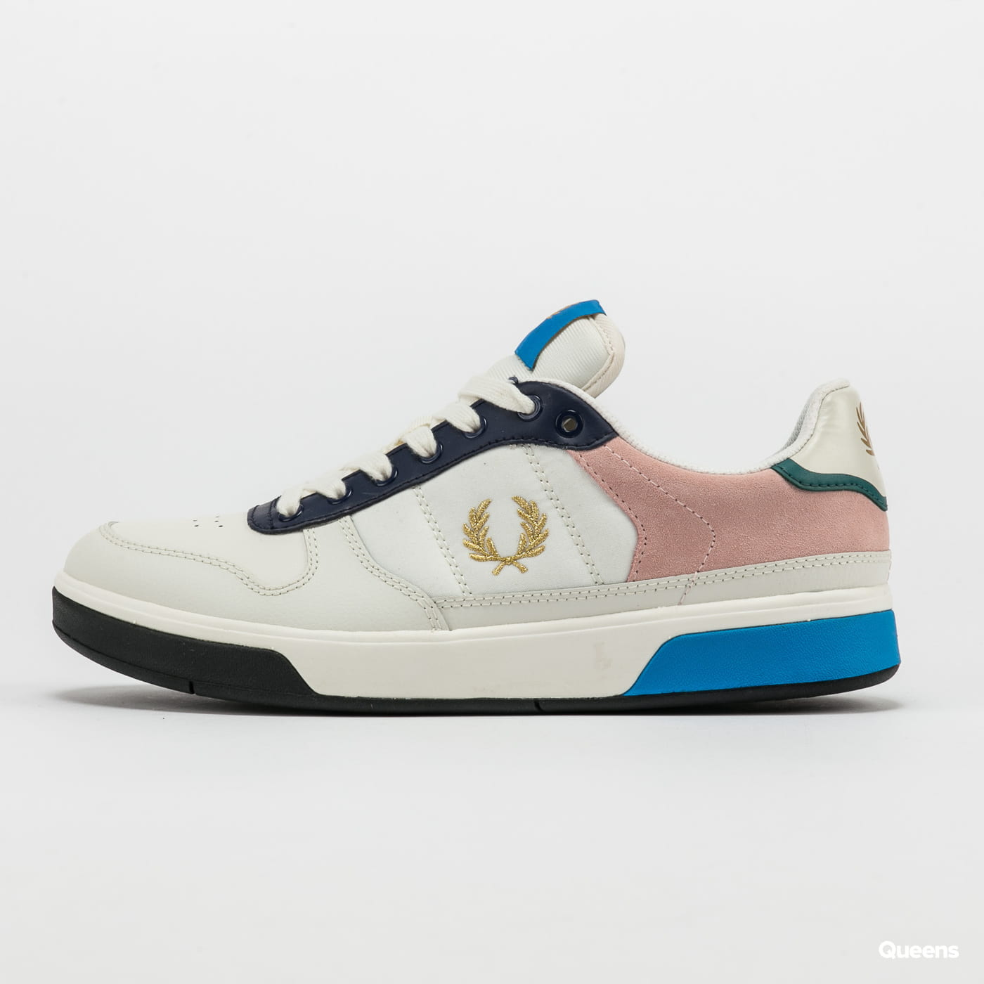 FRED PERRY B300 Leather / Suede / Poly snow white