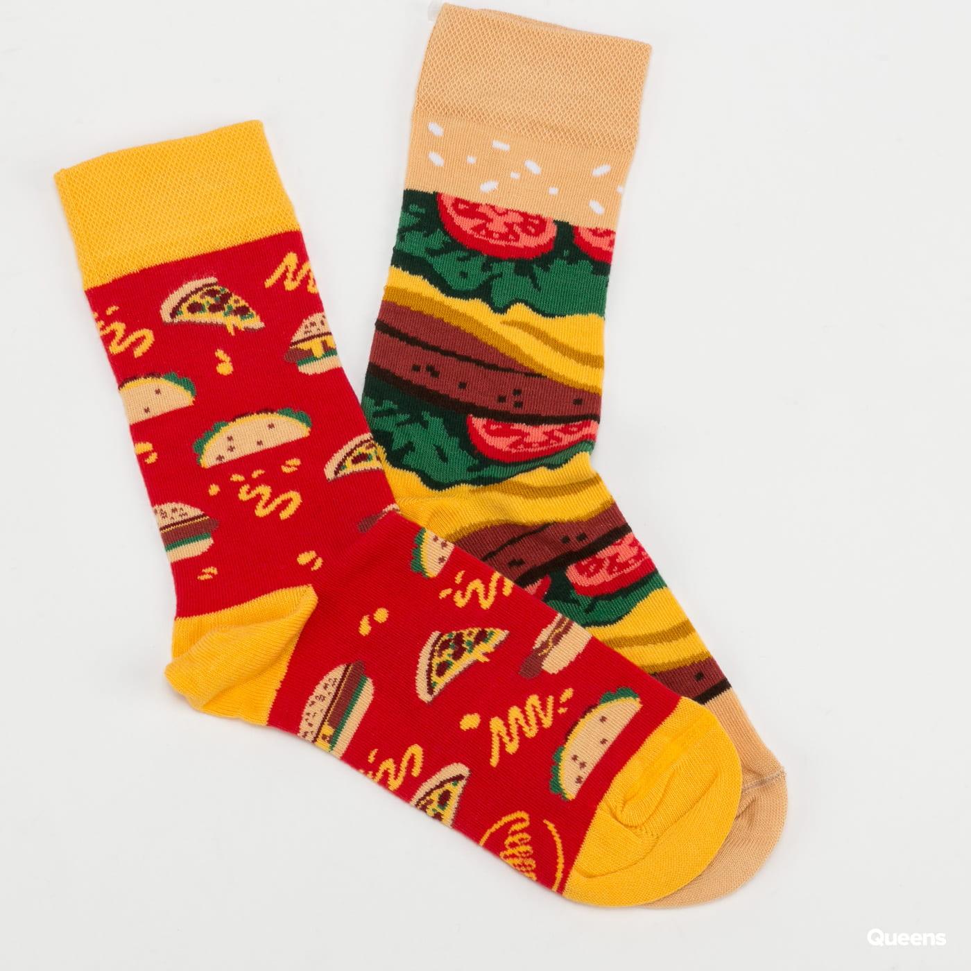 Many Mornings Fast Foot Socks červené / žluté / zelené