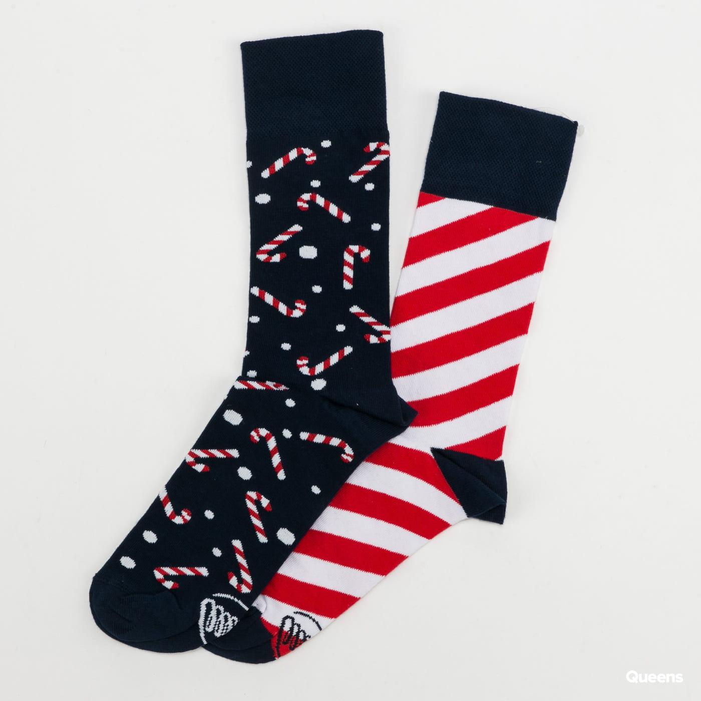 Many Mornings Sweet X-Mas Socks navy / white / red