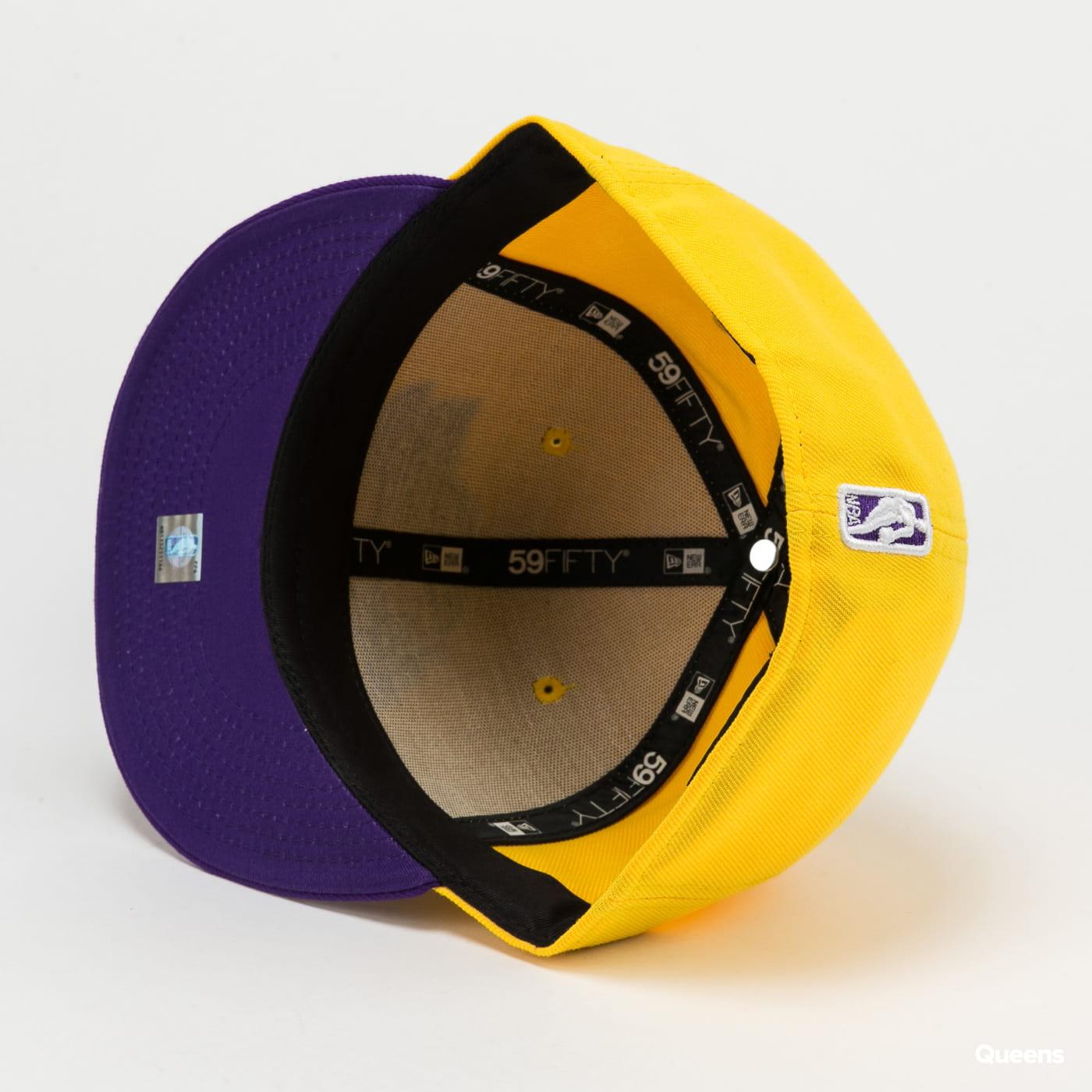 New Era 5950 NBA Basic LA Lakers yellow / purple