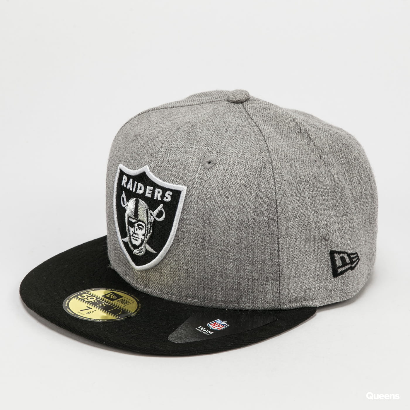 New Era 5950 NFL Heather Essential Raiders melange gray / black