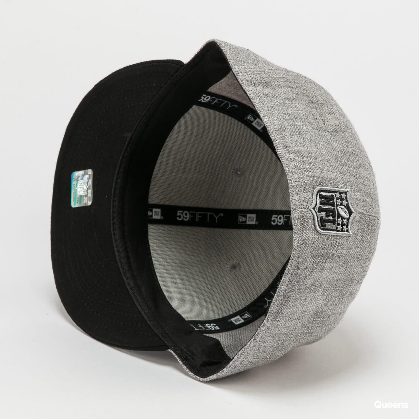 New Era 5950 NFL Heather Essential Raiders melange šedá / černá