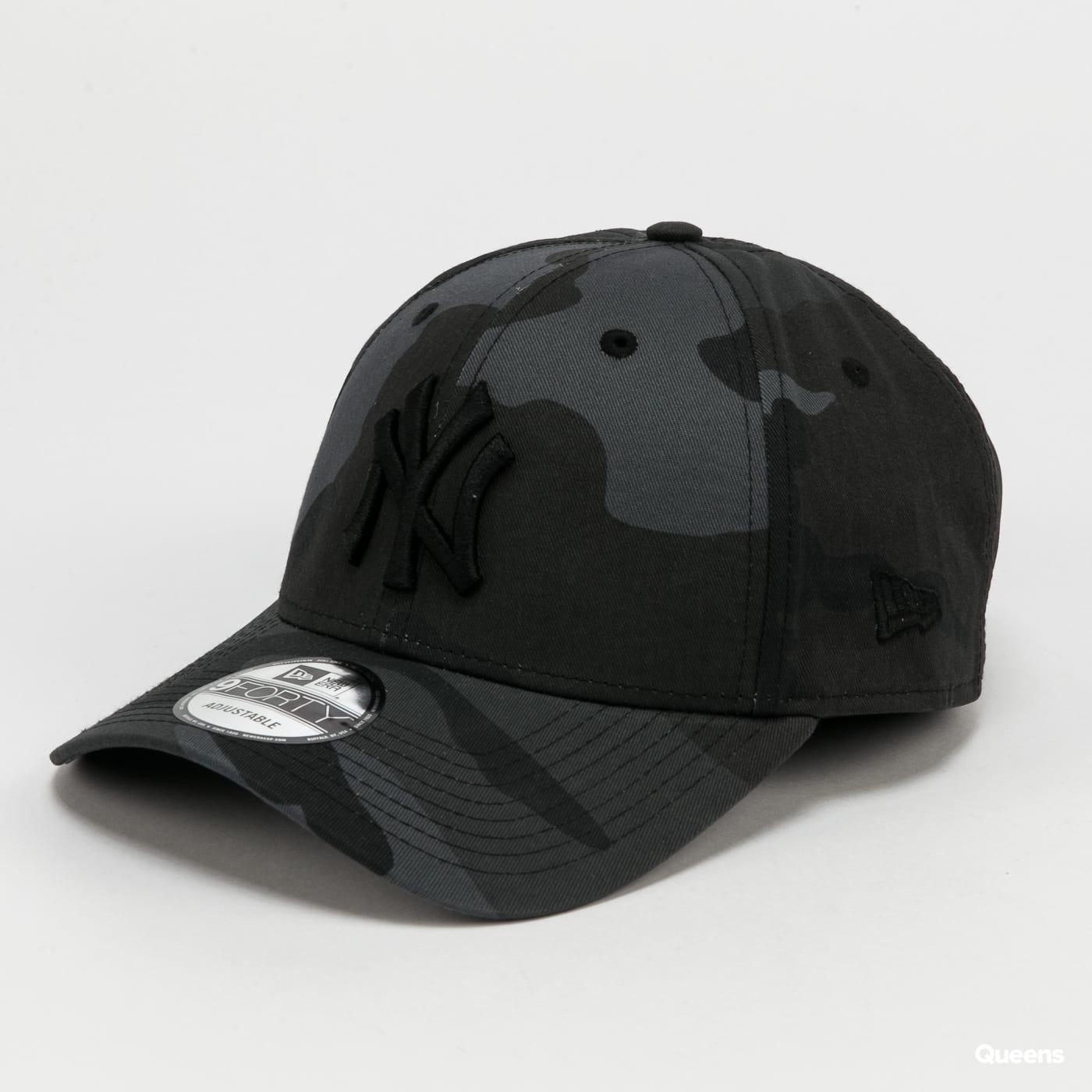 New Era 940 MLB League Essential NY C/O camo tmavě šedá / černá